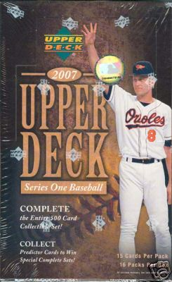 2007 Upper Deck Series 1 Hobby Baseball Unopened Box (16 Packs)