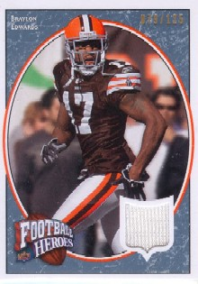 2008 Upper Deck Heroes Jerseys Gold #12 Braylon Edwards