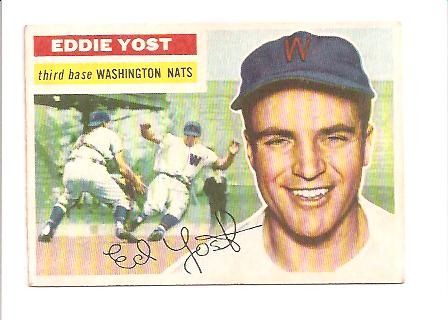 1956 Topps #128 Eddie Yost front image