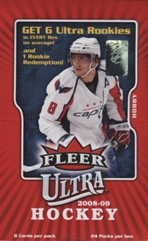 2008 - 09 ( 2009 ) Fleer Ultra Hockey Factory Sealed HOBBY Box - 2 Memorabilia Or Autograph Cards & 6 Rookie Cards Per Box On Avg. - Possible Sidney Crosby Kyle Turris Carey Price - In Stock Now