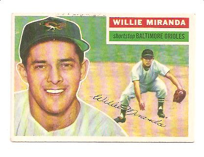 1956 Topps #103 Willie Miranda