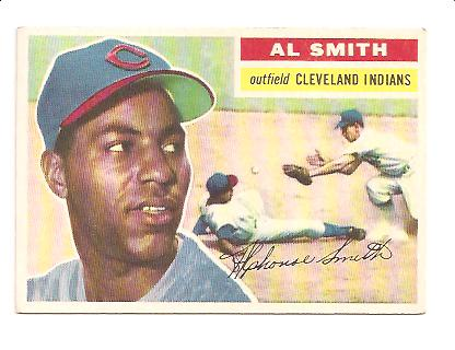 1956 Topps #105 Al Smith EX Actual scan