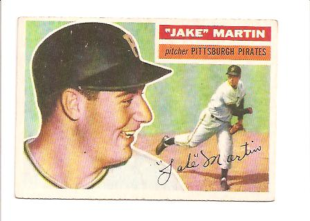 1956 #129 Jake Martin RC EXMT Actual scan