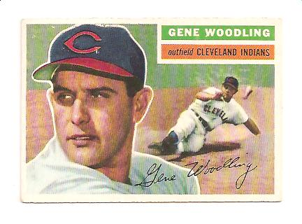 1956 Topps #163 Gene Woodling EXMT Actual scan