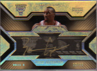 2007-08 UD Black Ticket Autographs Gold #TABG Ben Gordon