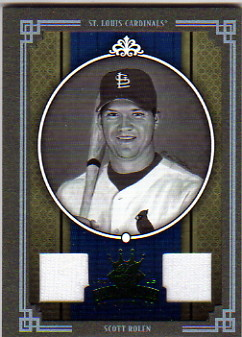 2005 Diamond Kings Materials Framed Green B/W #210 Scott Rolen Jsy-Jsy/25
