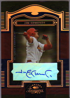2005 Timeless Treasures Signature Bronze #15 Jim Edmonds/50