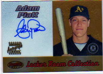2000 Bowman's Best Locker Room Collection Autographs #LRCA6 Adam Piatt A