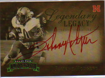 2007 Press Pass Legends Legendary Legacy Autographs Gold #JR2 Johnny Rodgers/184*