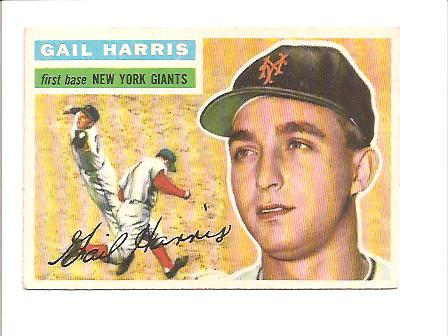 1956 Topps #91A Gail Harris RC GB EXMT Actual scan