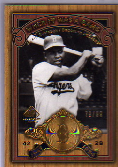 2006 SP Legendary Cuts When It Was A Game Gold #JR Jackie Robinson