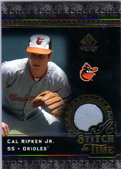 2007 SP Legendary Cuts A Stitch in Time Memorabilia #CR Cal Ripken Jr.