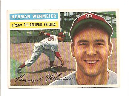 1956 Topps #78 Herman Wehmeier