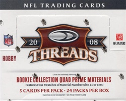 2008 Donruss Threads NFL Football Sports Trading Cards Hobby Box