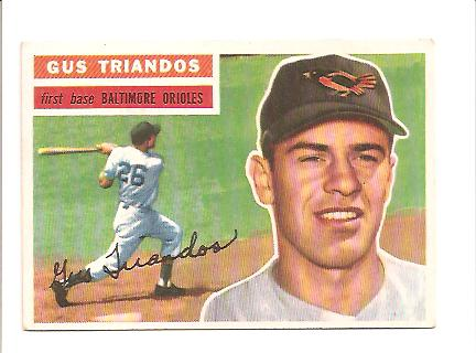 1956 Topps #80 Gus Triandos EXMT Actual scan