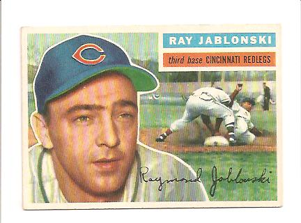 1956 Topps #86A Ray Jablonski GB EXMT Actual scan