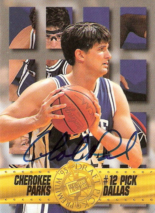 1995 Press Pass Autographs #3 Cherokee Parks