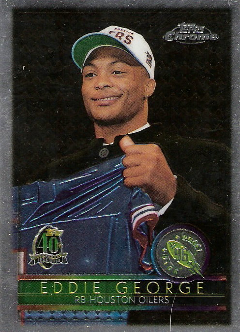 1996 Topps Chrome #162 Eddie George RC