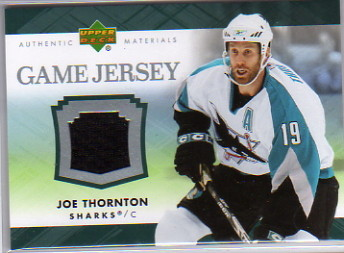 2007-08 Upper Deck Game Jerseys #JJT Joe Thornton