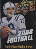 1 SEALED PACK : 2008 Upper Deck Football Factory Sealed Hobby Pack ( Random Autographs & Memorabilia Cards! )