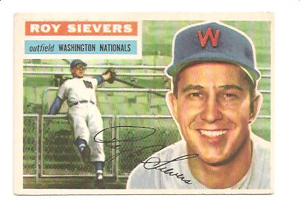 1956 Topps #75A Roy Sievers GB EXMT Actual scan