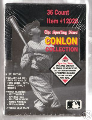 1991 Conlon Baseball Unopened Box (36 Packs)