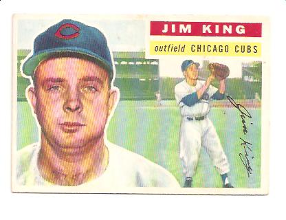 1956 Topps #74A Jim King GB