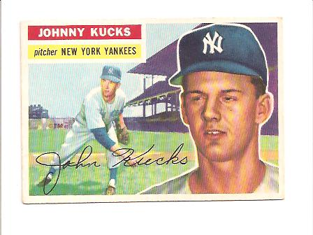1956 Topps #88A Johnny Kucks GB