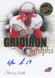 2008 Press Pass SE Gridiron Graphs Gold #GGMS Marcus Smith