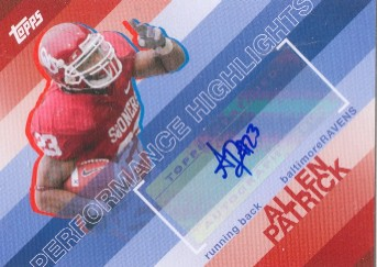 2008 Topps Performance Highlights Autographs #THAAP Allen Patrick D