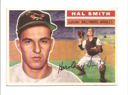 1956 Topps #62A Hal Smith GB