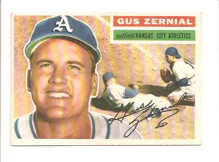 1956 Topps #45 Gus Zernial front image