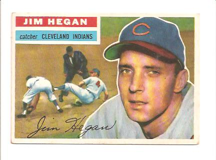 1956 Topps #48A Jim Hegan GB