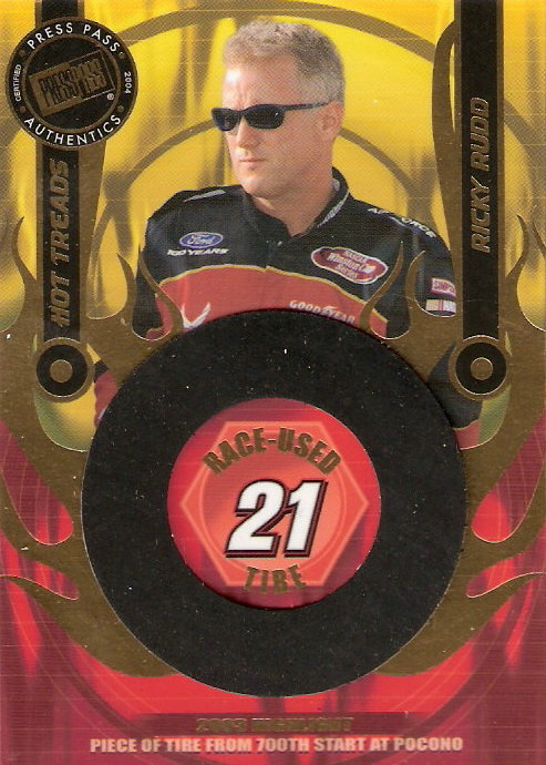 2004 Press Pass Hot Treads #HTR1 Ricky Rudd/1100