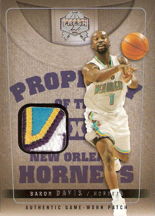 2004-05 SkyBox Fresh Ink Property of Patches #19 Baron Davis