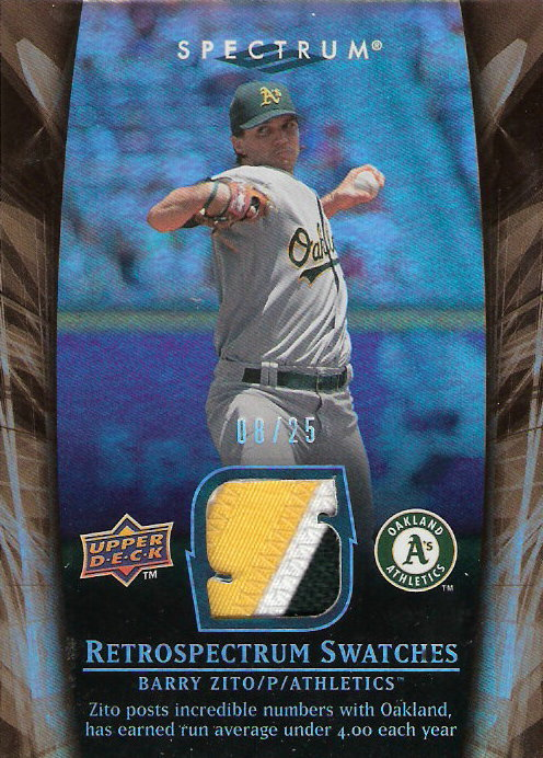 2008 Upper Deck Spectrum Retrospectrum Patches #BZ2 Barry Zito