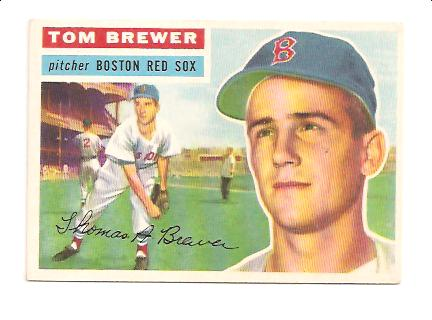 1956 Topps #34A Tom Brewer GB EXMT Actual scan
