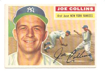 1956 Topps #21A Joe Collins GB