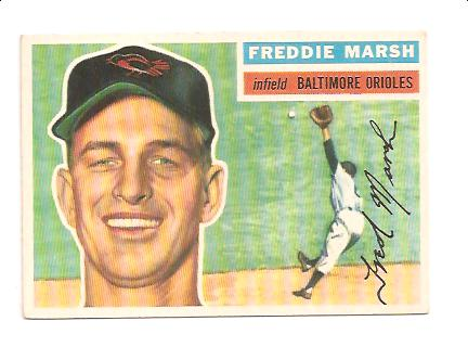 1956 Topps #23A Fred Marsh GB