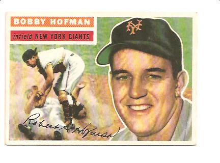 1956 Topps #28A Bobby Hofman GB