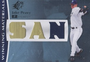 2008 SPx Winning Materials Team Initials 99 #JP Jake Peavy