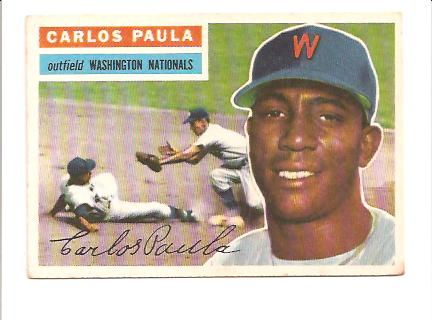 1956 Topps #4 Carlos Paula