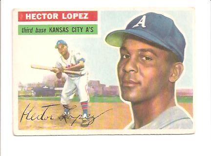 1956 Topps #16A Hector Lopez GB