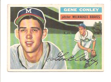 1956 Topps #17A Gene Conley GB