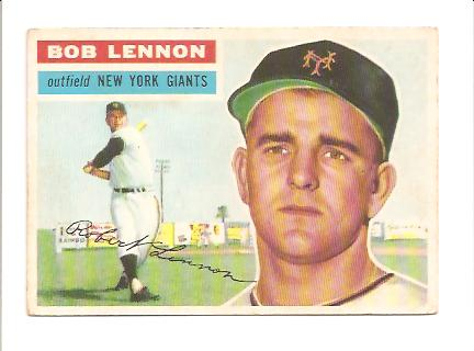1956 Topps #104A Bob Lennon WB