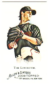 2008 Topps Allen and Ginter Mini #201 Tim Lincecum