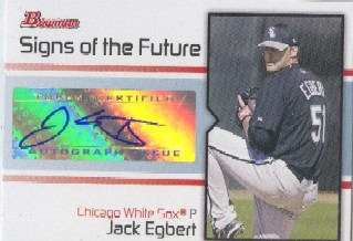 2008 Bowman Signs of the Future #JE Jack Egbert