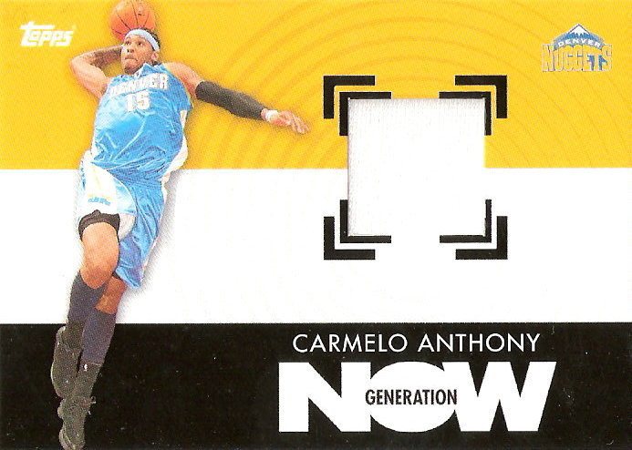 2007-08 Topps Generation Now Relics #GNRCA Carmelo Anthony