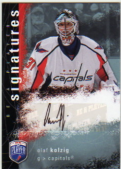 2007-08 Be A Player Signatures #SOK Olaf Kolzig