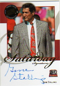 2008 Press Pass Legends Saturday Signatures #SSGS2 Gene Stallings